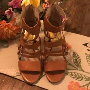 🍭Michael Kors Gladiator heels! Only used once!